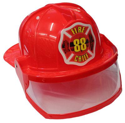#1116 Red Helmet Plastic + Visor