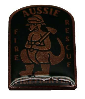 #PB001 Firefighter Kangaroo Badge