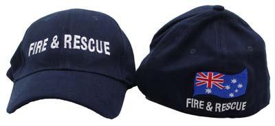 #1175 Cap Unifit Fire & Rescue + Aus Flag