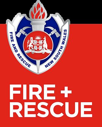#1052 Inside Sticker Fire + Rescue logo RESTRICTED