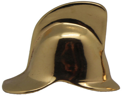 #1897 Brass Helmet Half facing Left