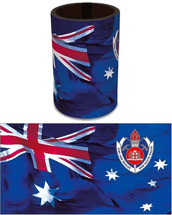 #2078 FRNSW with Australian Flag Can Cooler