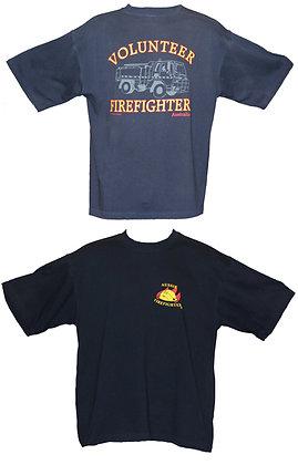 #1251 T-Shirt Aussie Firefighter Volunteer