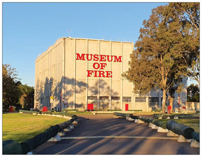 #1061 Magnet Museum Of Fire Entrance