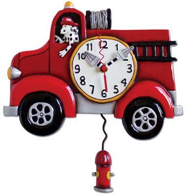 #2122 Wall Clock Fire Engine