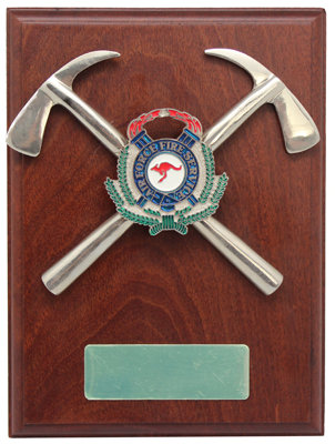 #9945 Air Force Fire Service Plaque With Axes