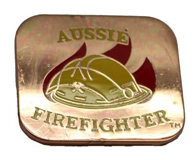 #PB002 Aussie Firefighter Badge