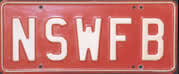 #195, Number Plate NSWFB