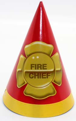 #2071 Fire Chief Party Hats