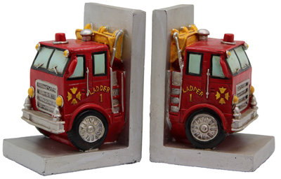 #313 Fire Engine Book Ends
