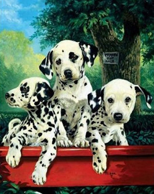 #1086 Paint by Diamonds Dalmatians