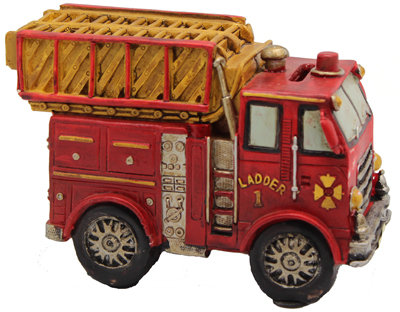 #304 Fire Engine Money Box