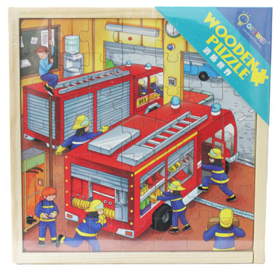 #1039 Wooden Fire Trucks Puzzles
