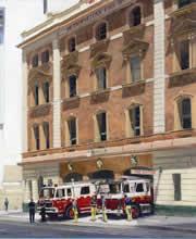 #911, Print Commemorative No 1 Station City of Sydney Fire Station