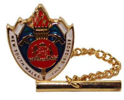#483, Tie tac gold colour NSW Fire Brigades