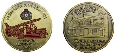 #2027 Tasmania Fire Service & Logo Medallion