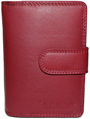 #1023 Wallet Ladies Red 15 Card