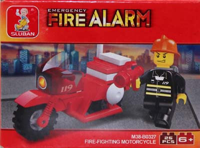 #2039 Blocks Fire Motorcycle