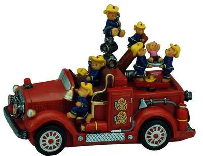 #2149 Musical Teddy Fire Engine