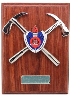 #9912 Plaque FRNSW Badge & Chrome Axes
