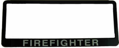 """#234 Number Plate """"FIREFIGHTER"""""""