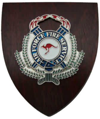 #1263 Air Force Fire Service Wall Plaque
