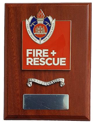 #9970 Fire + Rescue Plaque