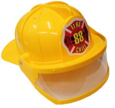 #1117, Helmet plastic yellow + visor