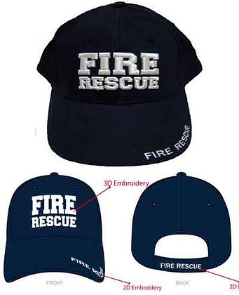 #1034 Cap Navy FIRE RESCUE 3D