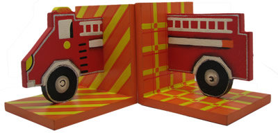#1018 Fire Engine Bookends