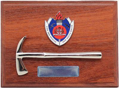 #9986 Plague Fire & Rescue NSW Badge & Axe