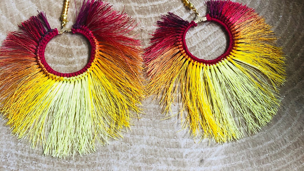 Uncommon Phoenix Faux Feather Earrings