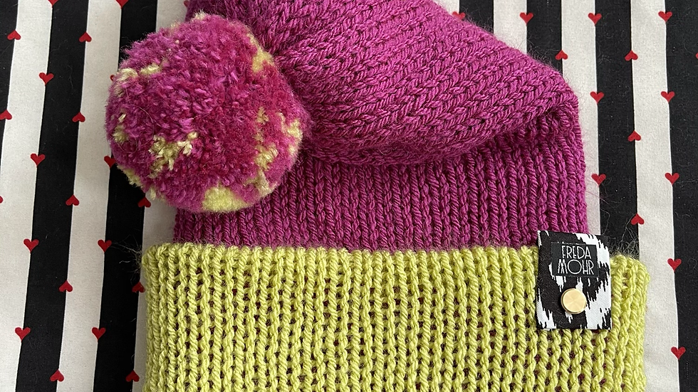 Slouchy Beanie in Berry Green