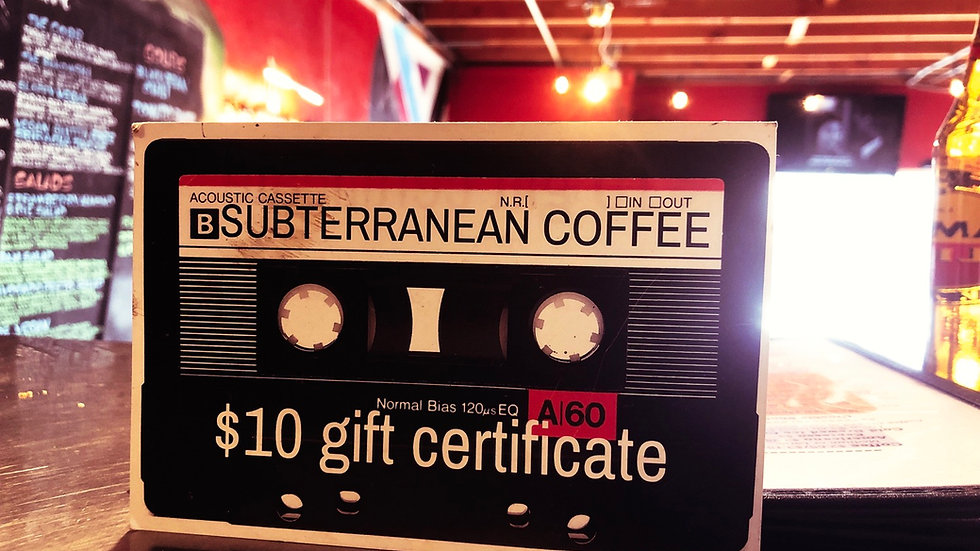Subt Gift certificate