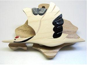 木工クラフト 丹頂クリップ作り