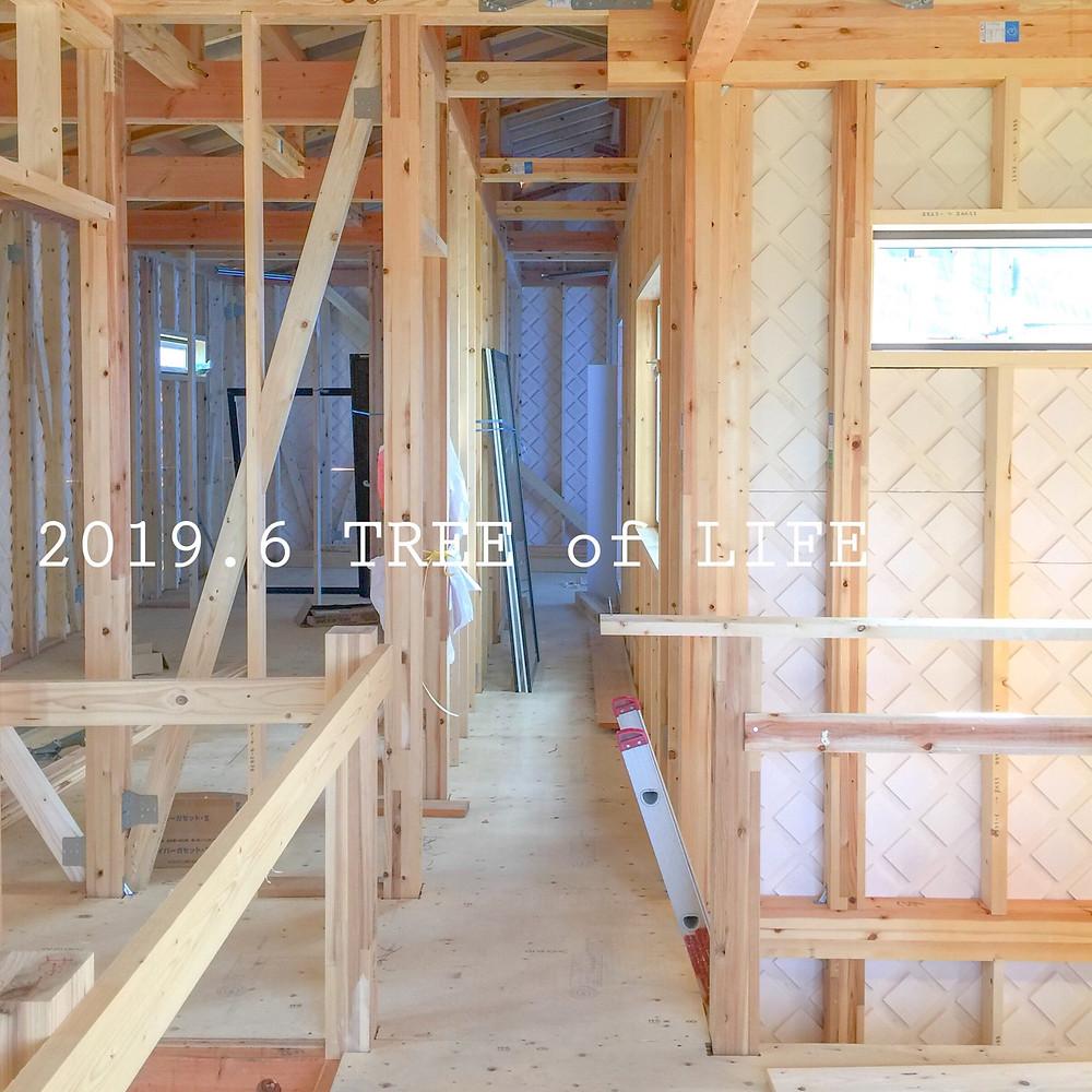 2階廊下|無垢の木の家|クリエイティブAG|磐田市