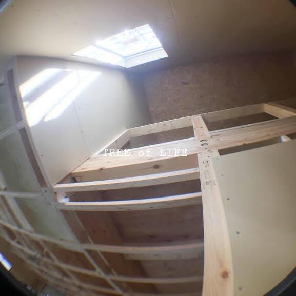 階段 1階→2階天井
