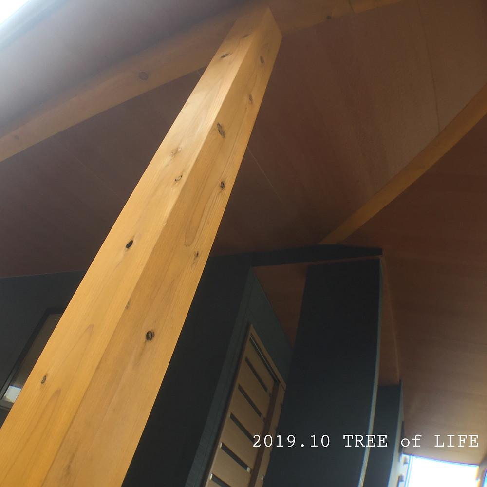 外の柱_塗装(玄関横)