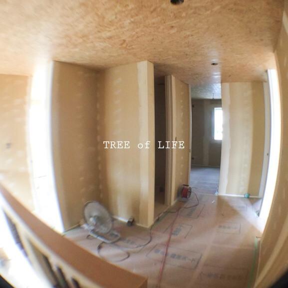 パテ作業完了 2階ホール