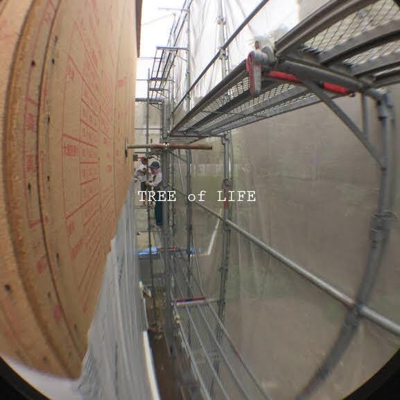 透湿防水シート施工中