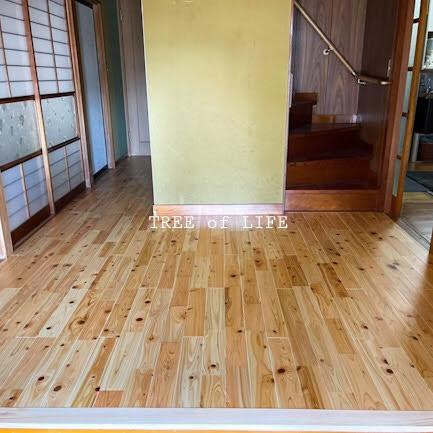 床の重ね貼り完成!