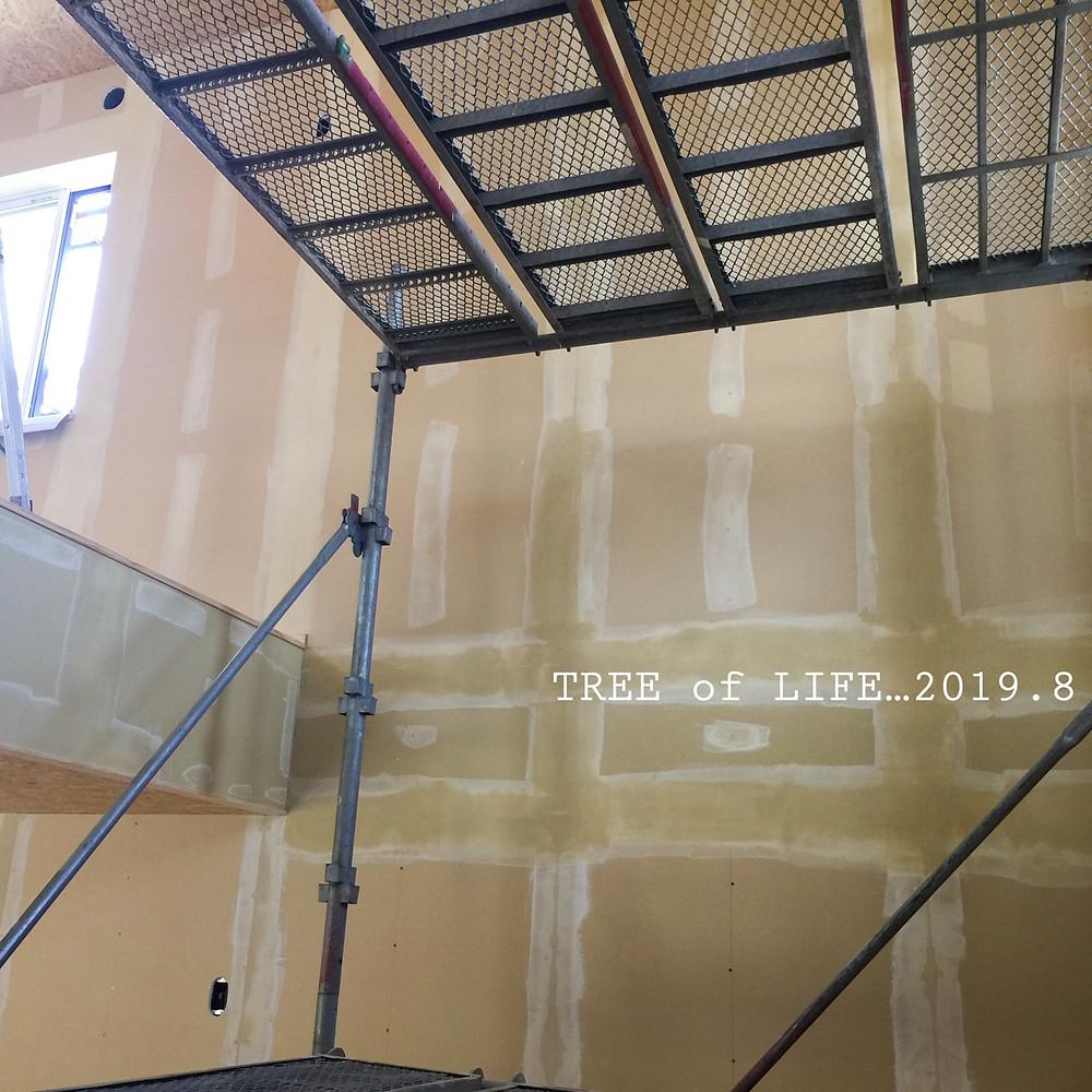 壁 パテ塗り(1階~2階)
