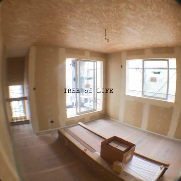 パテ作業完了 2階寝室