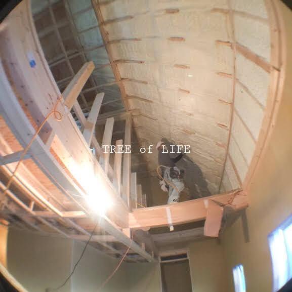 天井施工中