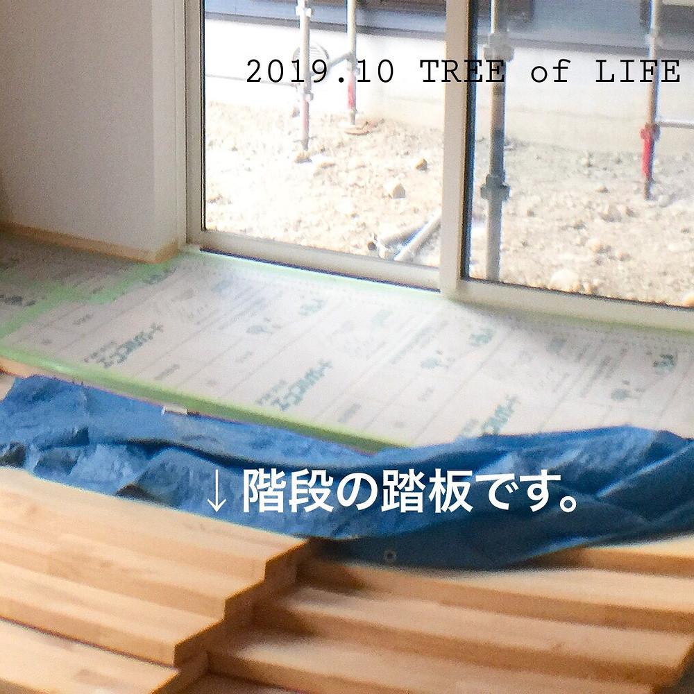 階段踏板塗装中