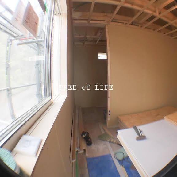 2階 壁施工中