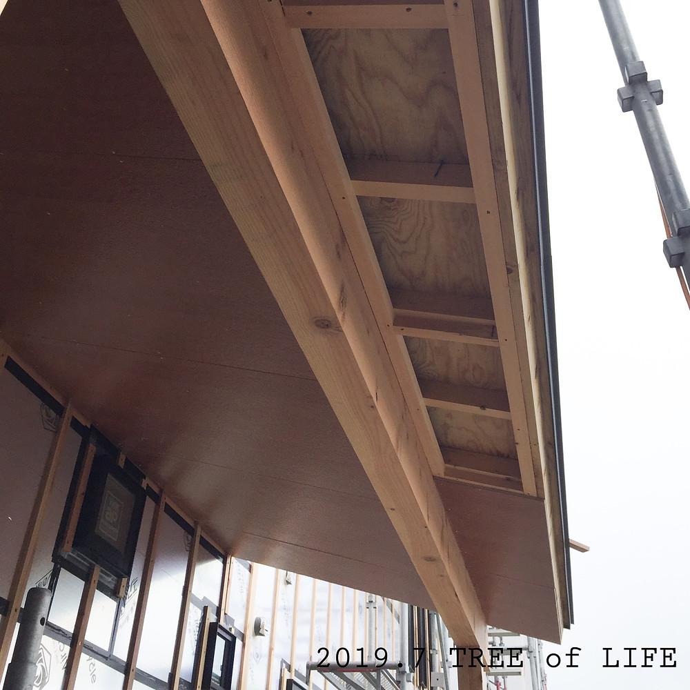 軒下|無垢の木の家|クリエイティブAG|磐田市