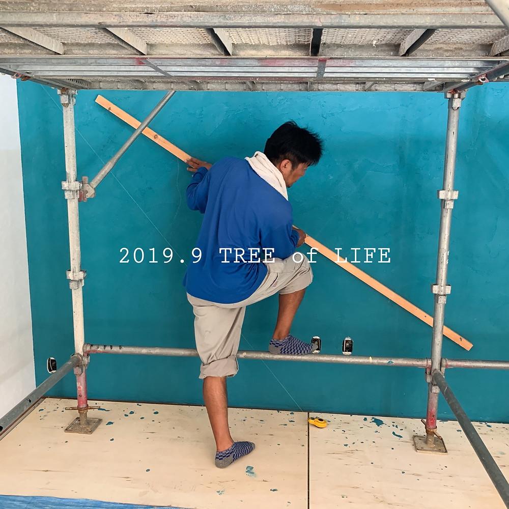 ②塗壁追加施工 角度相談中