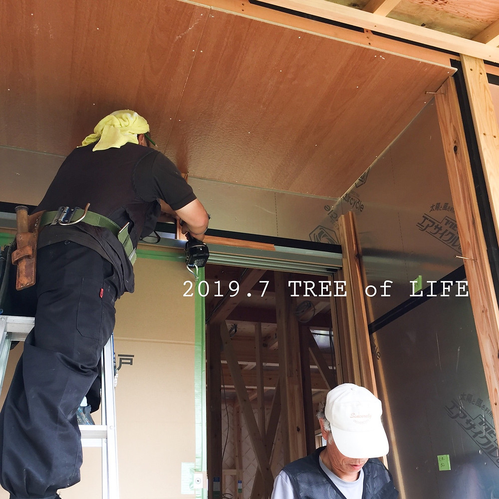玄関ポーチ屋根|無垢の木の家|クリエイティブAG|磐田市
