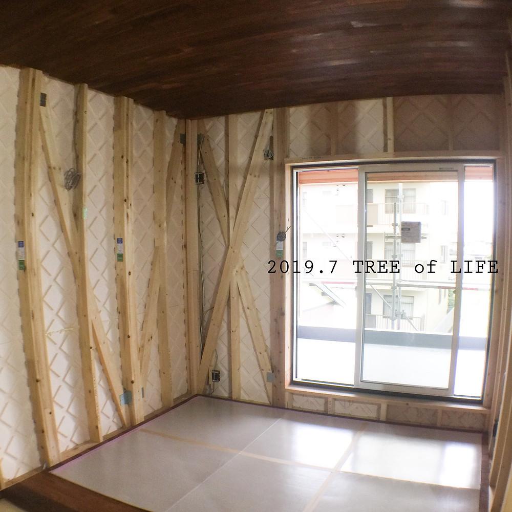 2階寝室|無垢の木の家|クリエイティブAG|磐田市